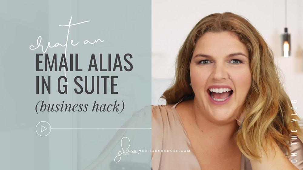 G Suite Email Alias (Video TN)
