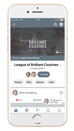 Join the League of Brilliant Coaches community! (Image: Mock-Up of Community)